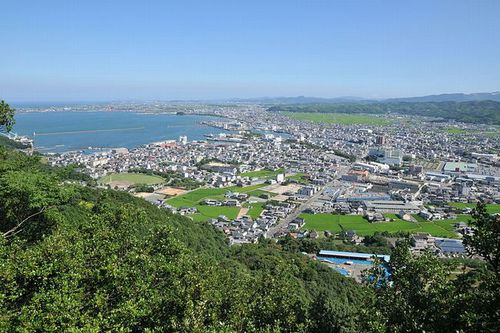 Photo: Komatsushima city and Anan city view from Hinomine jinja