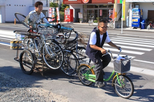 JFS/University Students Recycle Abandoned Bikes into Rental Bikes